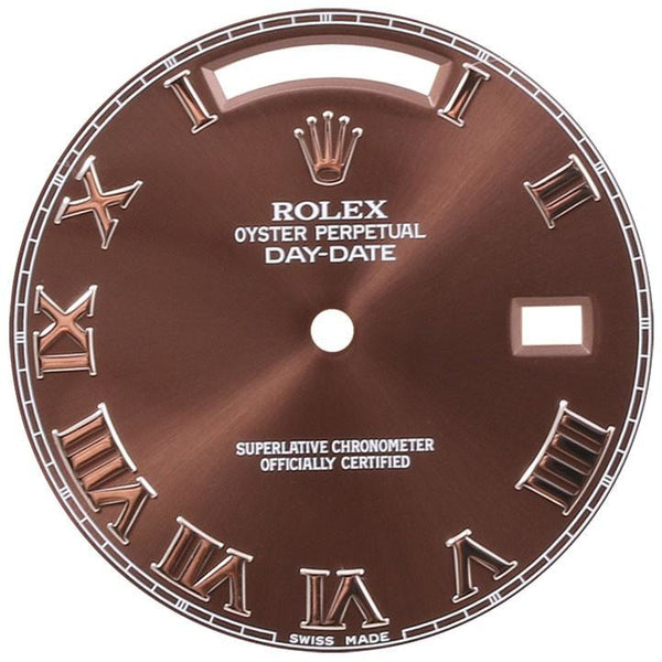Rolex Day-Date II White Gold Brown Roman Dial - ChronoNation