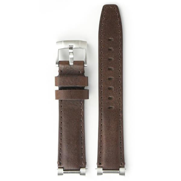 EVEREST STEEL END LINK LEATHER STRAP FOR ROLEX DAYTONA WITH TANG BUCKLE