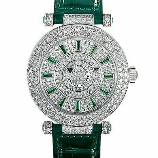 Franck Muller Double Mystery 42mm DM 42 D 2R CD 18K White Gold Unisex Watch