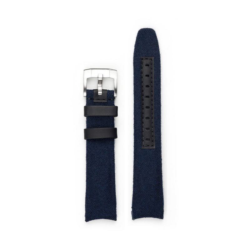 EVEREST CURVED END NYLON STRAP FOR ROLEX EXPLORER II WITH TANG BUCKLE