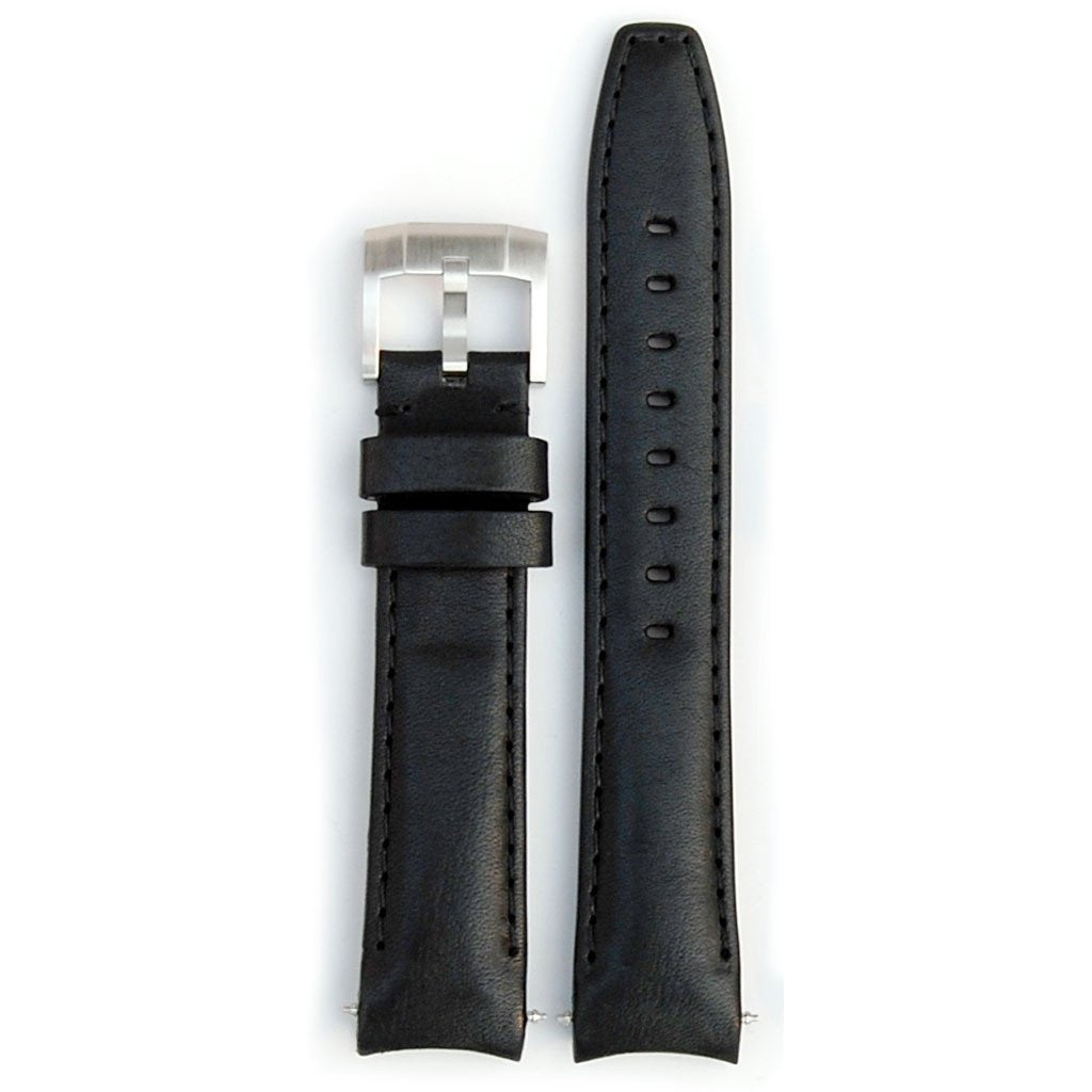 EVEREST CURVED END LEATHER STRAP FOR ROLEX EXPLORER II WITH TANG BUCKLE