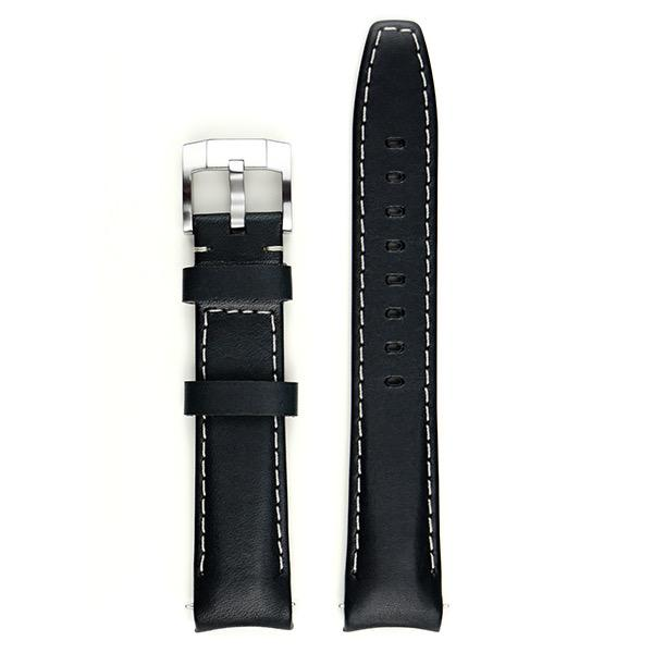 EVEREST CURVED END LEATHER STRAP FOR ROLEX SUBMARINER CERAMIC NO-DATE WITH TANG BUCKLE