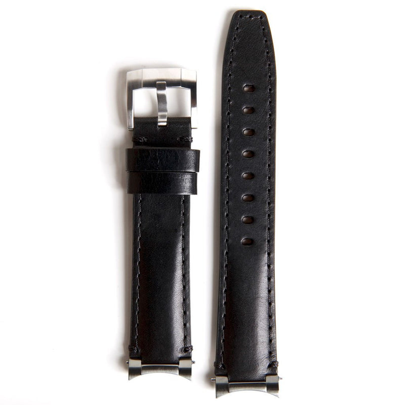 EVEREST STEEL END LINK LEATHER STRAP FOR ROLEX GMT MASTER I & II WITH TANG BUCKLE