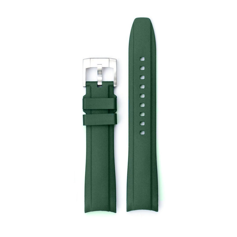 EVEREST CURVED END RUBBER STRAP FOR ROLEX MILGAUSS WITH TANG BUCKLE - ChronoNation
