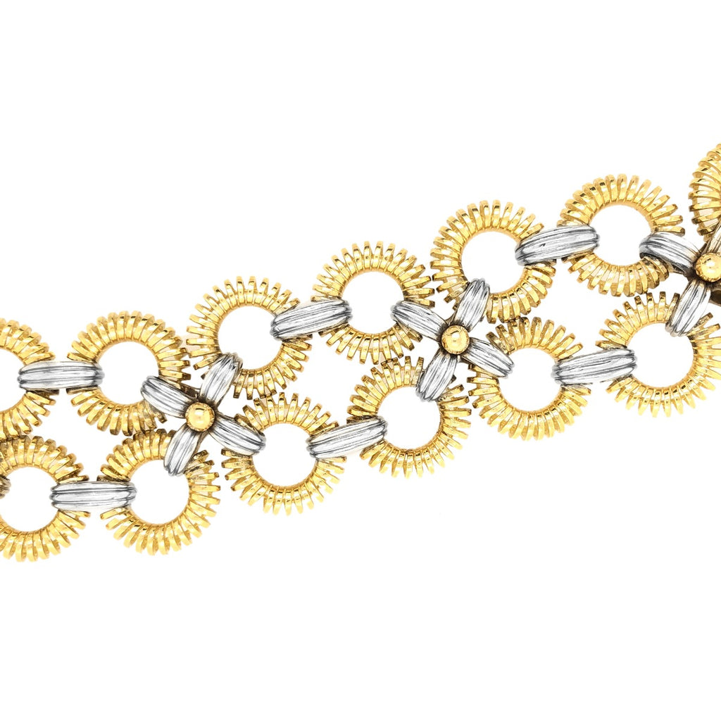Tiffany & Co. Two Tone Gold Interlocking Bracelet
