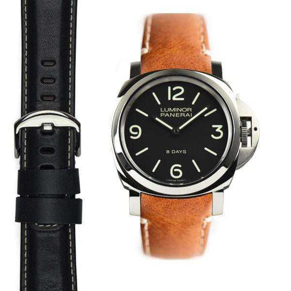 EVEREST CURVED END LEATHER PANERAI LUMINOR 44MM