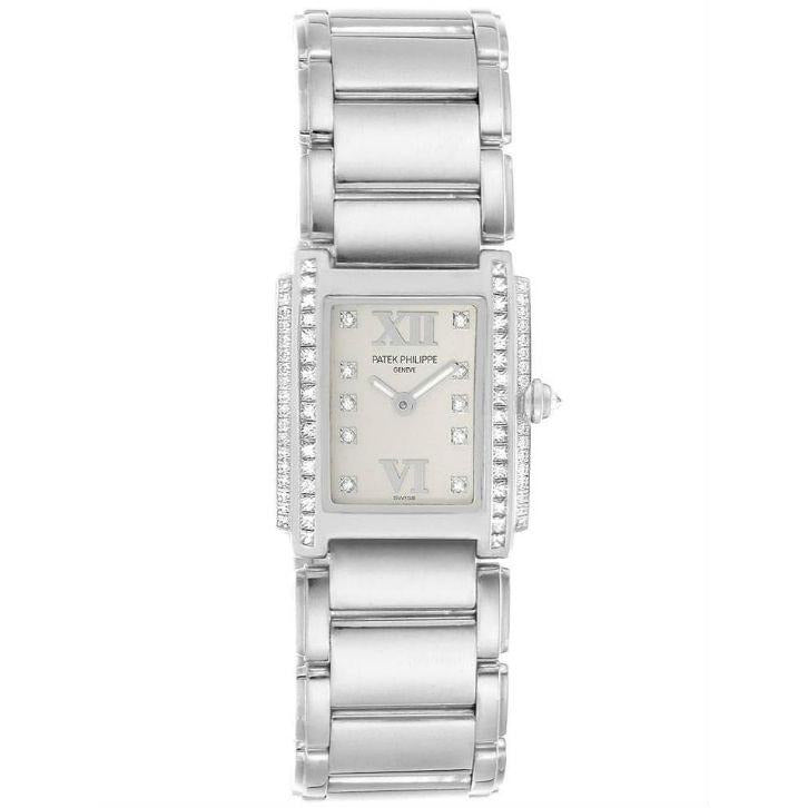 Patek Philippe Twenty-4 22x26mm 4908 18K White Gold Women's Watch