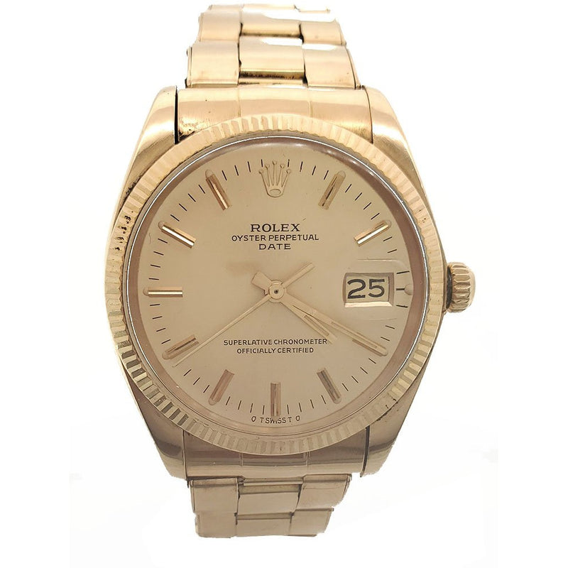 Rolex Date 34mm 1503 18K Yellow Gold Men's Watch