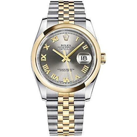 Rolex Datejust 36mm 18K Yellow Gold & Stainless Steel Grey Dial 116203