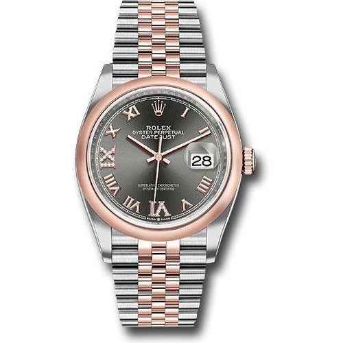 Rolex Datejust 36mm 18K Rose Gold & Stainless Steel 126201