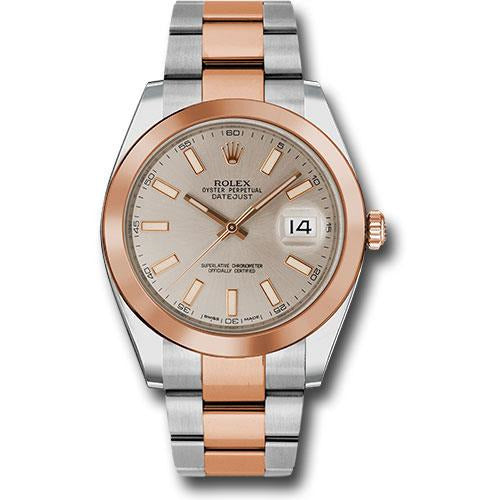 Rolex DateJust 41mm 18K Rose Gold & Stainless Steel Sundust Dial 126301