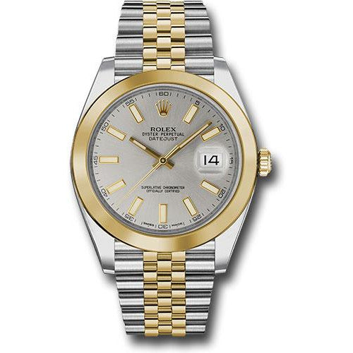 Rolex Datejust 41mm 18K Yellow Gold & Stainless Steel Silver Dial 126303