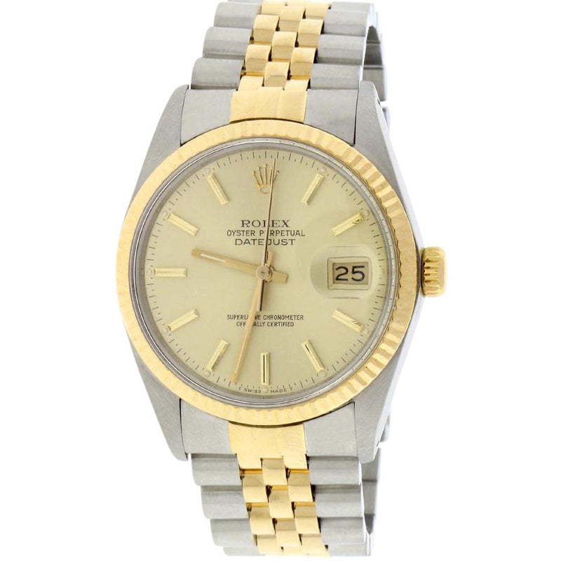 Rolex DateJust 36mm 18K Yellow Gold & Stainless Steel 16013
