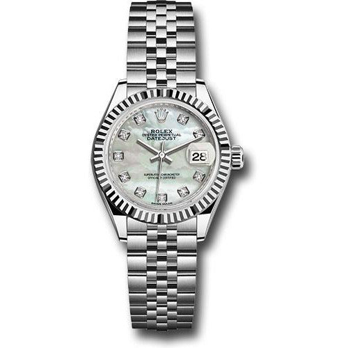 Rolex Datejust 28mm Stainless Steel MOP Diamond Dial 279174