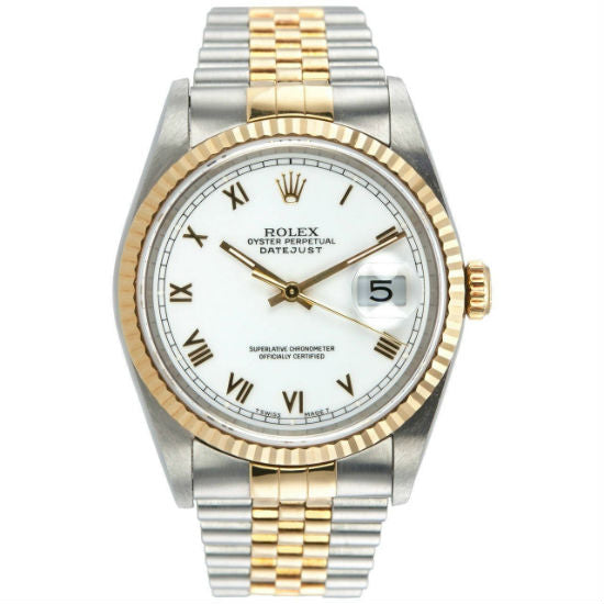 Rolex Datejust 36mm 16233 18K Yellow Gold/Stainless Steel Unisex Watch