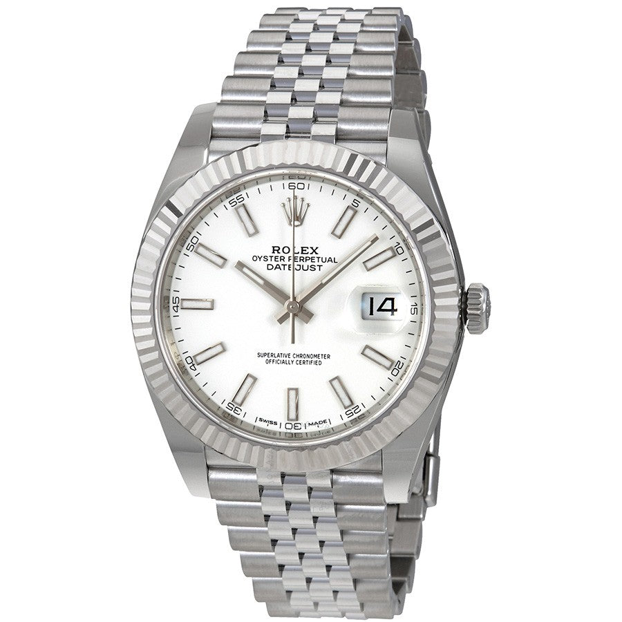 Rolex Datejust II 126334 Stainless Steel Jubilee Automatic White Dial Men's Watch