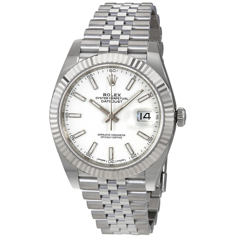 Rolex Sky-Dweller 326939 Fluted Bezel 18k White Gold Automatic Black Dial Men's Watch