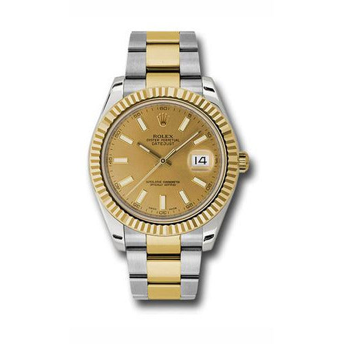 Rolex Datejust II 18k Yellow Gold & Stainless Steel Automatic Men's Watch 116333