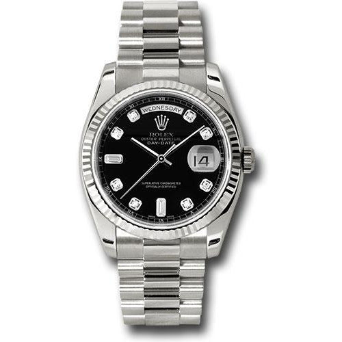 Rolex Day Date 36mm 118239 18K White Gold Men's Watch