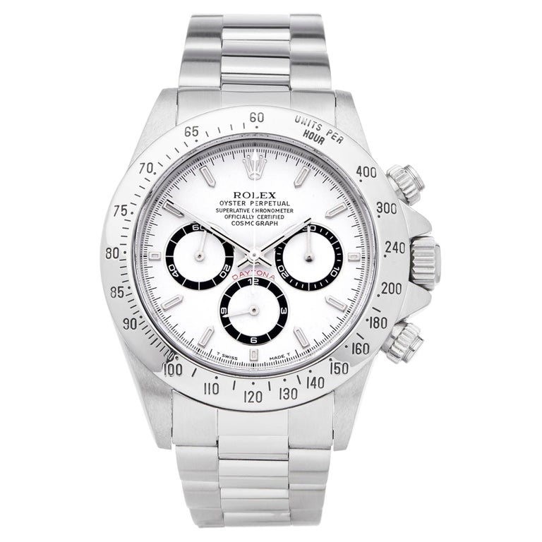Rolex Daytona 116520 Stainless Steel Chronograph Oyster Auto White Watch