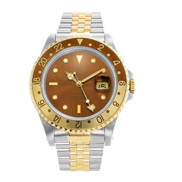 Rolex GMT-MASTER II 40mm Rootbeer Dial 16713
