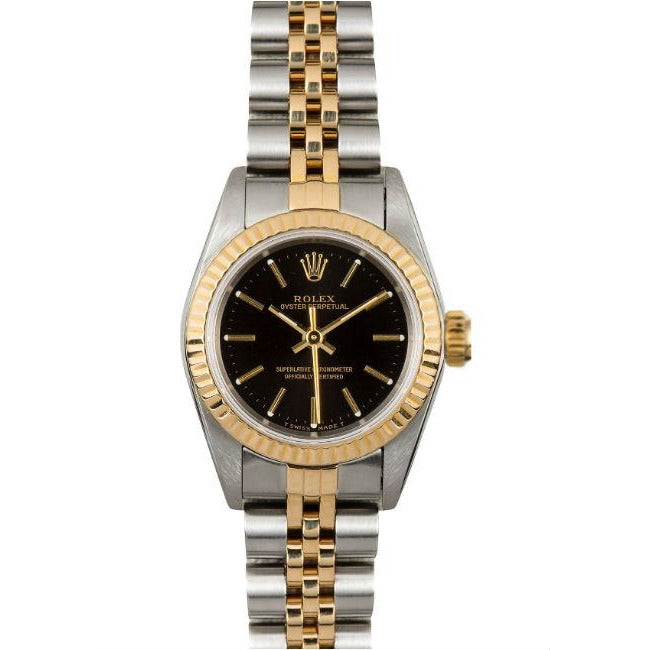 Rolex Oyster Perpatual 24mm 67193 18K Yellow Gold/Stainless Steel Women's Watch