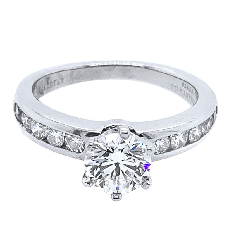 Tiffany and Co White Gold Engagement Ring - ChronoNation