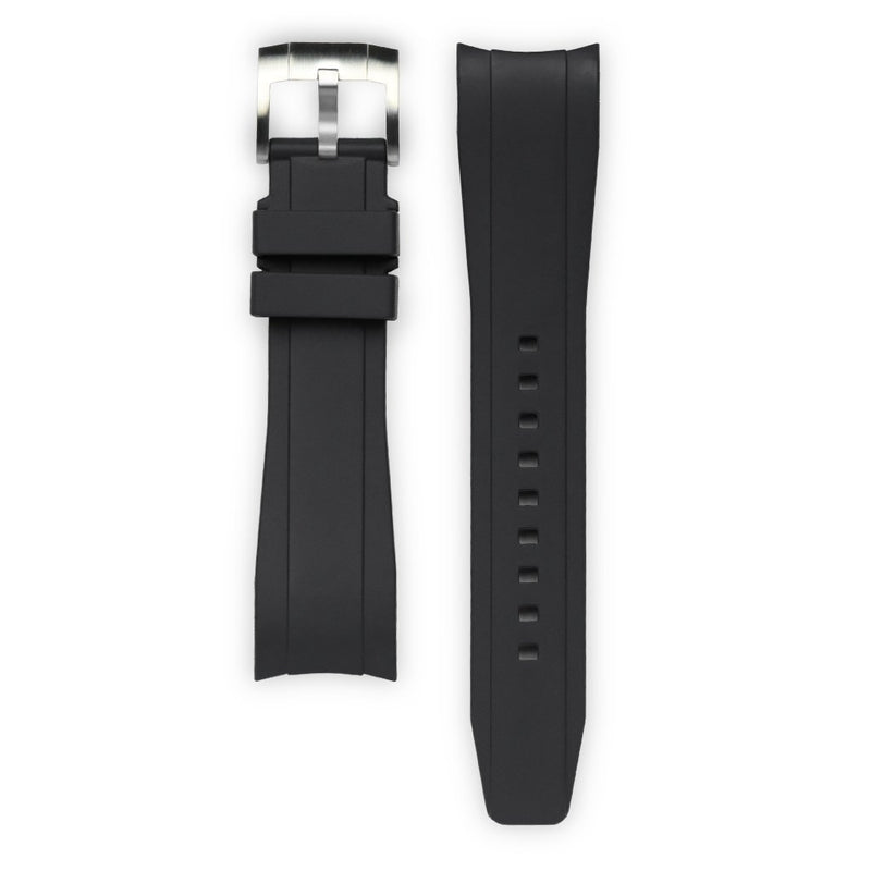 EVEREST CURVED END RUBBER STRAP FOR TUDOR HERITAGE BLACK BAY WITH TANG BUCKLE