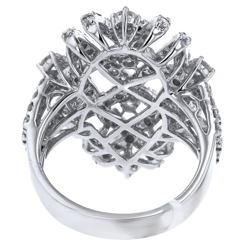 18k White Gold 2.56ct Diamond Criss Cross Ring - ChronoNation