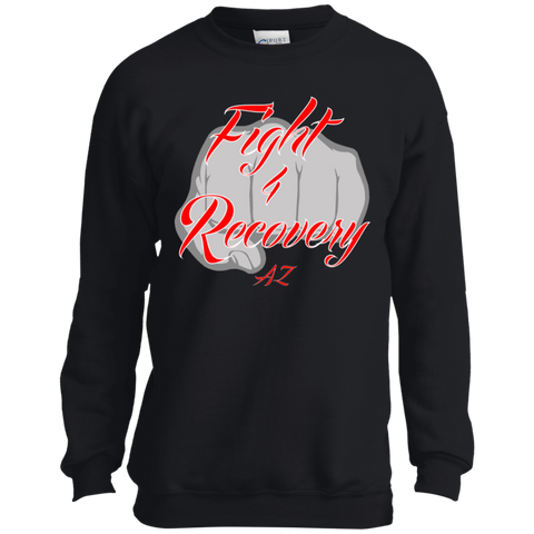 Fight 4 Recovery AZ Youth Crewneck Sweatshirt