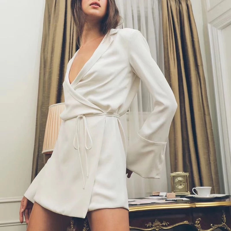 The Satin Wrap Dress