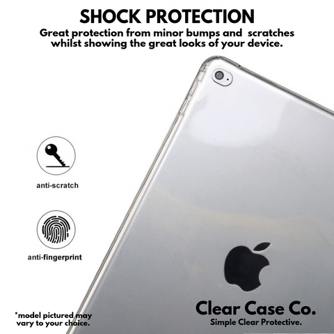 iPad 6th Gen & Air 2 Transparent Soft Silicon Gel Cover