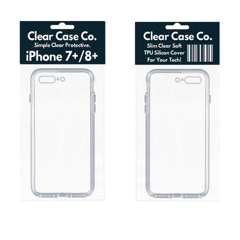 Image of iPhone 7+/8+ Transparent Soft Silicon Gel Cover