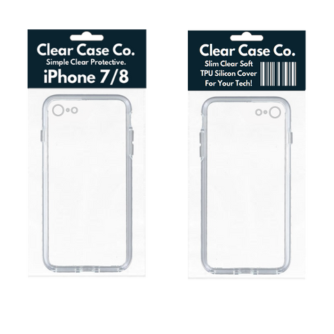 Image of iPhone 7/8 Transparent Soft Silicon Gel Cover
