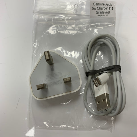 Genuine Apple 5w Plug & Charger Lightning Cable GRADE A/B