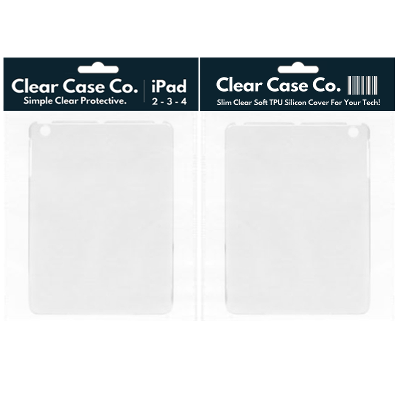 iPad 2, 3 & 4 Transparent Soft Silicon Gel Cover