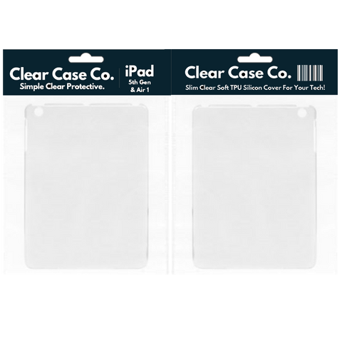 iPad 5th Gen & Air 1 Transparent Soft Silicon Gel Cover