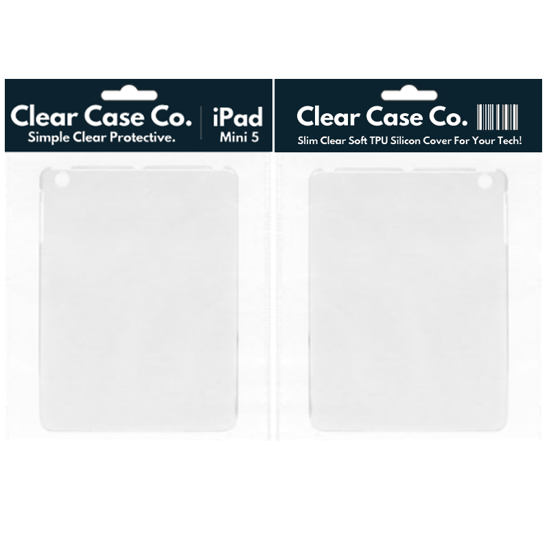 iPad Mini 5 Transparent Soft Silicon Gel Cover