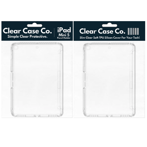 iPad Mini 5 Pencil Holder Transparent Soft Silicon Gel Cover