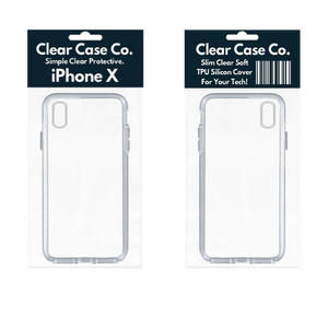 iPhone X Transparent Soft Silicon Gel Cover