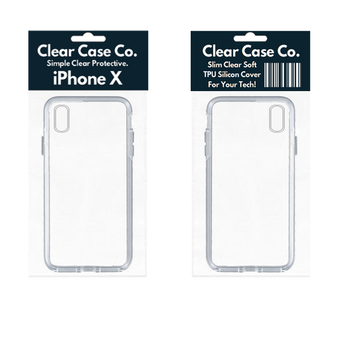 Image of iPhone X Transparent Soft Silicon Gel Cover