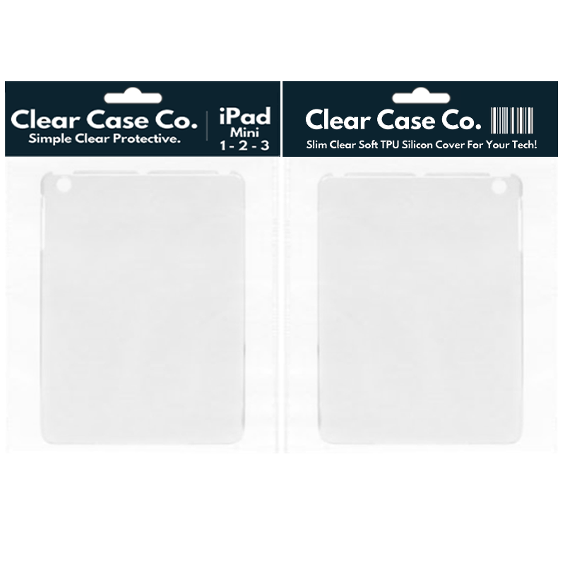 iPad Mini 1, 2 & 3 Transparent Soft Silicon Gel Cover