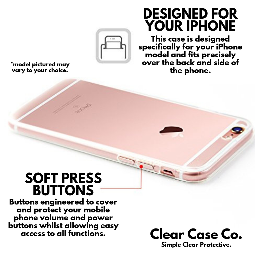iPhone 7+/8+ Transparent Soft Silicon Gel Cover