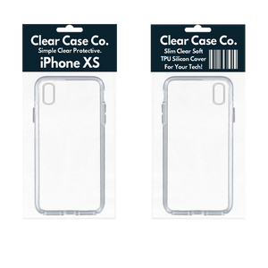 iPhone XS Transparent Soft Silicon Gel Cover