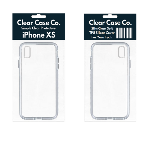 Image of iPhone XS Transparent Soft Silicon Gel Cover