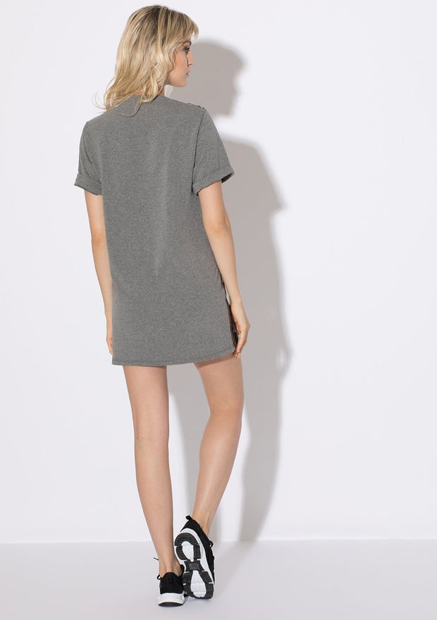 MAXI T-SHIRT ILLUSION GREY - INDIGGO