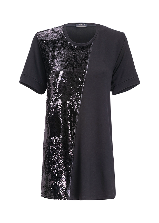 Maxi T-shirt Illusion Black