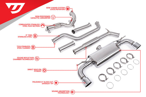Unitronic Turbo-Back for MK7.5 GTI MQB - Chrome Tips (UH047-EXA)