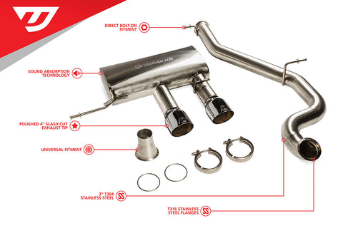 "Unitronic 3"" Cat-Back Exhaust System for MK6 Golf R (UH008-EXA)"