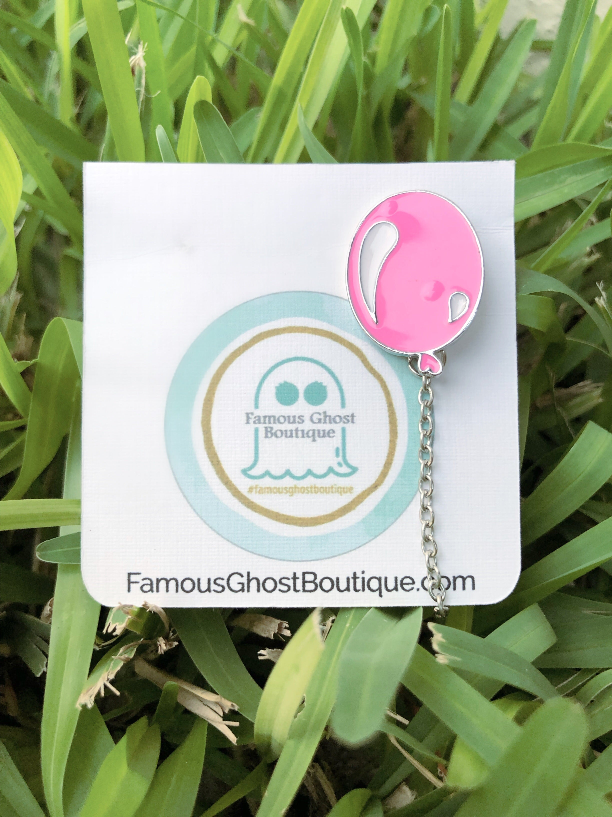 Pink Balloon Pin